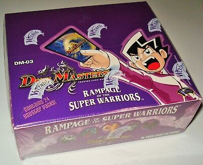 Duel Masters DM-03 BOOSTER DISPLAY Rampage of the Super Warriors - englisch NEU