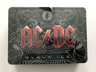 AC/DC - BLACK ICE * Limited Edition Steelbox CD DVD Sticker Flagge 2008 NEU OVP