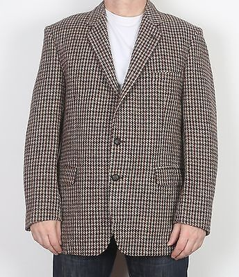 "Harris Tweed 42"" Medium Large Jacket Blazer Brown   (65F)"