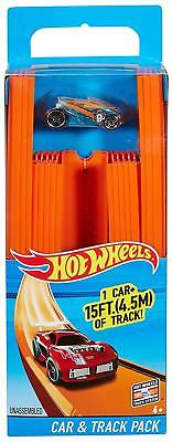 Hot Wheels Track Builder Straight Track Includes 15 Feet of Track and Bonus Car