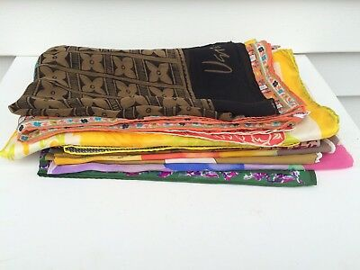 Vintage Vera Neumann Silk Scarf Lot 15 Scarves Signed