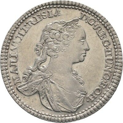 LANZ RDR Österreich Maria Theresia 1/4 Taler 1742 Hall Krone Wappen €HED136