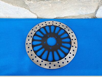"Ultima 11.8"" Black King Spoke Front Brake Rotor For Harley 2008-Up"
