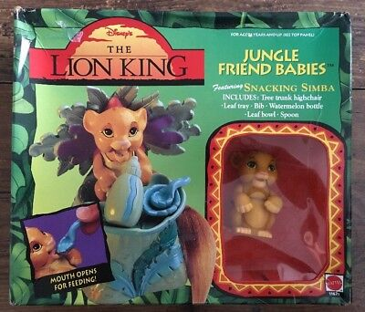 The Lion King Jungle Friend Babies Snacking Simba NEW Boxed Mattel 1994 Vintage
