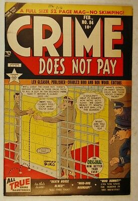 "Crime Does Not Pay #84 (Feb 1950, Lev Gleason) ""Death House Blues"""