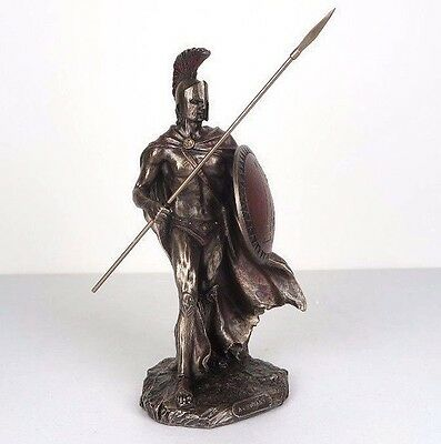 "Leonidas w/ Spear Greek Spartan Warrior King Bronze Figurine Statue 10""H New"