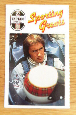 Scarce Younger's Sporting Greats Card Jackie Stewart F1 Motor Racing 1989