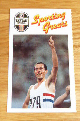 Scarce Younger's Sporting Greats Card Steve Ovett Athletics 1989