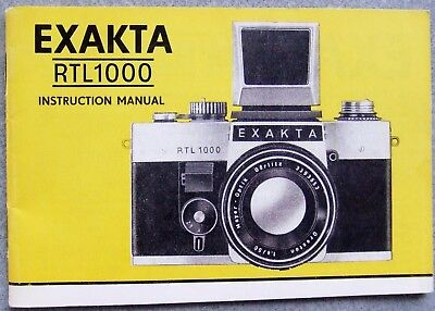 Exakta Rtl1000 Instruction Manual