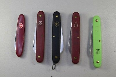 Lot of 5 - Victorinox Swiss Army Knives  used
