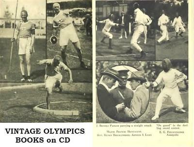 Olympic Games Vintage eBooks on Disc Fifth Seventh Oympiads 1906 1912 History