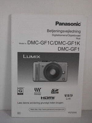 Panasonic Lumix DMC-GF1 GF1 Manual Danish