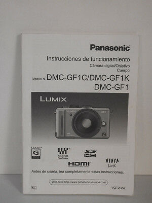 Panasonic Lumix DMC-GF1 GF1 Manual Español