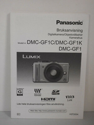 Panasonic Lumix DMC-GF1 GF1 Manual Norwegian