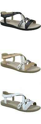 Earth Spirit Louisville Leather Ladies Touch Fast Strappy Comfort Sandals