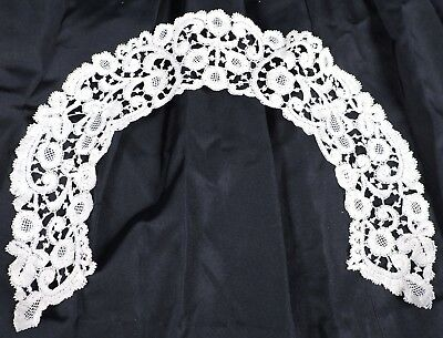 Antique Civil War Era Mid 19Th C Hand Made Brussels Lace Collar 4 Dress