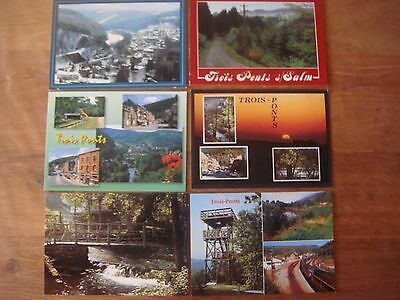 Lot de 6 cartes de TROIS PONTS