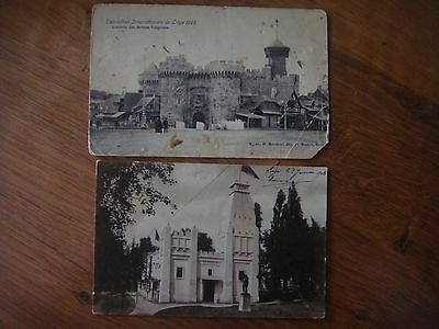 Lot de 2 cartes de l' Exposition internationale de LIEGE 1905