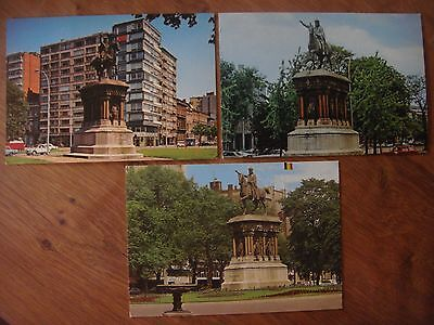 Lot de 3 cartes de LIEGE ( Monument Charlemagne )