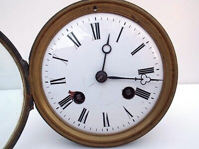 Antique striking French clock movement,dial and pendulum