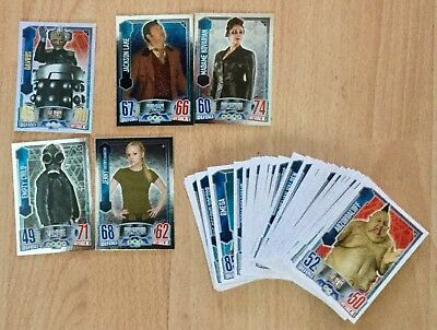 41 Different Topps Doctor Who Alien Attax Trading Card Game cards 2012