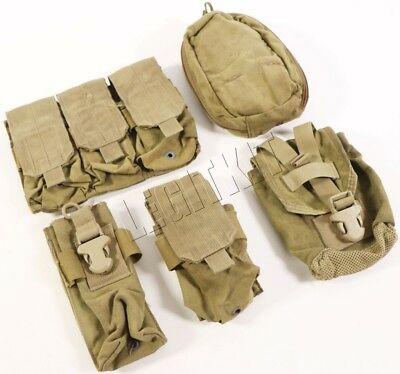 LOT (5x) Eagle Industries MLCS Assorted Pouches MOLLE MJK Tan Navy SEAL NSW