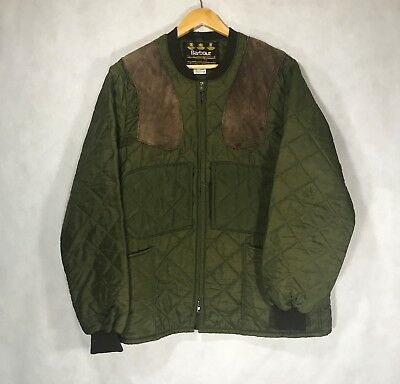 Men's Barbour Quilted Lining Jacket Green Outer Coat Size - L