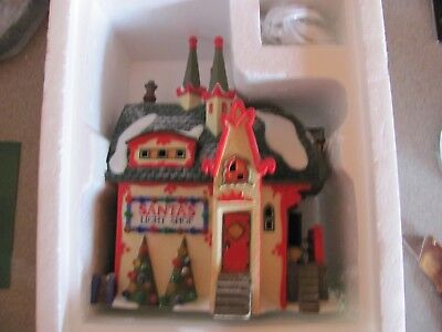 "Heritage Village Collection North Pole Series ""santa's Light Shop"""