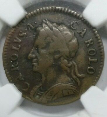 UK  Great Britain  1679 Farthing - CHARLES II NGC Cert. Fine Details scarce Coin