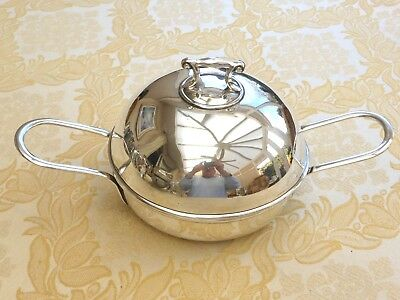 Art Dec Silver Plated Two Handled Serving Dish With Domed Lid  1330502/506