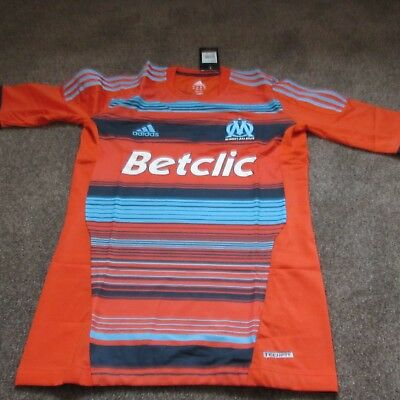 2011/12 Marseille  Maillot foot, Football Shirt, Player Issue Techfit Adidas (L)