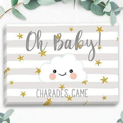 Baby Shower Party Games  BABY SHOWER CHARADES Baby Boy/ Girl / Unisex New Mum