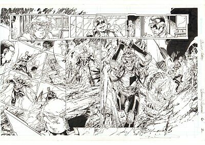 Batman / Superman #6 p.2 Aquaman, Wonder Woman, Catwoman DPS art by Brett Booth