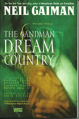 THE SANDMAN: DREAM COUNTRY  (DC/VERTIGO, 1995)  trade paperback  NEIL GAIMAN  NM
