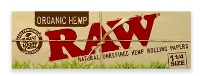 RAW 4 X Booklets 1 1/4 Medium Organic Natural Hemp Rolling Papers + Filter Tips