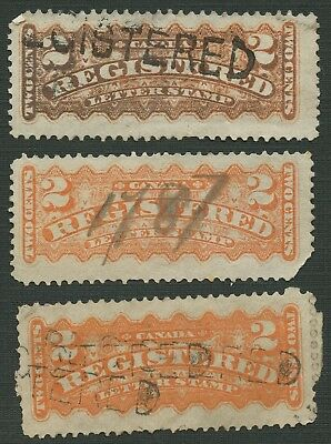 Canada # F1 -Registration Stamps Used - 1875-1888