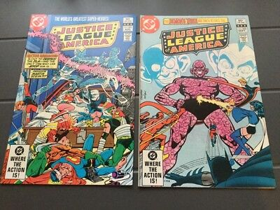 JUSTICE LEAGUE OF AMERICA # 205,206.  (AUG/sept.1982),