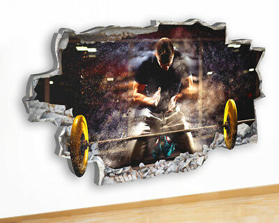 Q819 Weights Gym Lift Strength Fit Canvas Picture Poster Wall Art Stickers Room