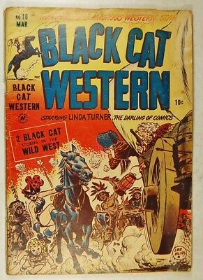 """Black Cat Western #16 (March 1949, Harvey) """"The Silver Thugs!"""""""