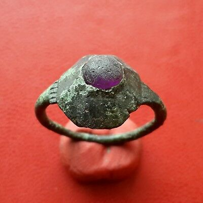Ancient Viking Ring with glass or enamel insert of 8-10 century AD