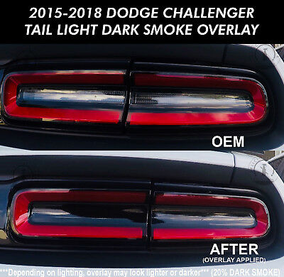 2015 2018 dodge challenger tail light smoke rear overlay. Black Bedroom Furniture Sets. Home Design Ideas