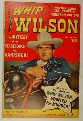 """Whip Wilson #10 (June 1950, Marvel) """"The Stagecoach that Vanished!"""""""