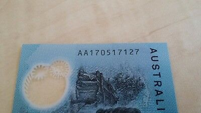 AUSTRALIA NEW $10 2017 AA17 FIRST PREFIX Very Low Serial AA 1705 UNC Banknote