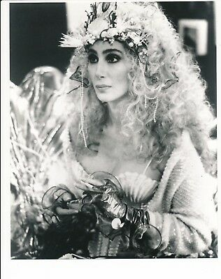 "Mermaids- 8"" x 10"" Cher Black & White Promotional Photo-#194-1990"