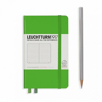 Leuchtturm1917 Notebook Pocket A6 Dotted Pages - Fresh Green Cover