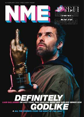 Liam Gallagher Cover Nme Awards 2018 Nme Magazine 16 February 2018