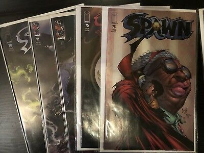 Spawn 15 comic lot including (Mike Mignlola #100 cover) + Shadowhawk #1