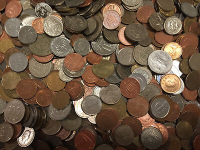4 lbs of mixed World / FOREIGN COINS, bulk lots by the pound! Many Countries!