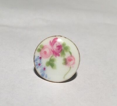 c.1870~1880~ANTIQUE ELITE LIMOGES FRENCH PORCELAIN/CHINA STUD  BUTTON~FRANCE