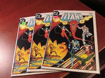 Lot of 3 Copies of the New Teen Titans #1 DC 1984 First issue Comic Book Perez
